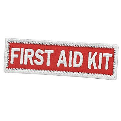 first aid kit 1x3 5 red/white embroidered EMS IFAK medical hook-and-loop patch