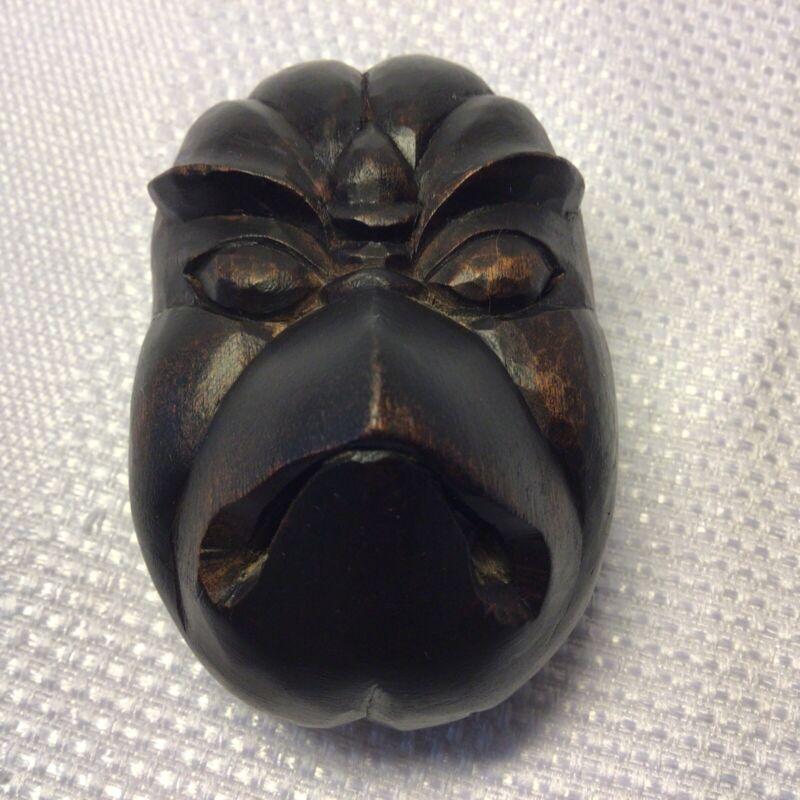 Northwest Coast Style Small BIRD Hand Carved Wood Mask