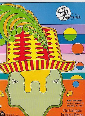 1970s VINTAGE CATALOG #1117 - PARTYLINE - PARTY SUPPLIES/FAVORS - FANTASTIC](1970s Party Favors)