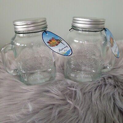 Mason Jar Mugs Bulk (🌴 MARGARITAVILLE JIMMY BUFFETT GLASS EMBOSSED MASON JAR MUG OR STORAGE-SET)