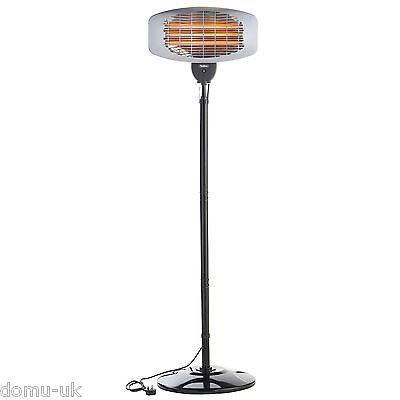 VonHaus 2KW Free Standing Electric Infrared Indoor/ Outdoor Garden Patio Heater