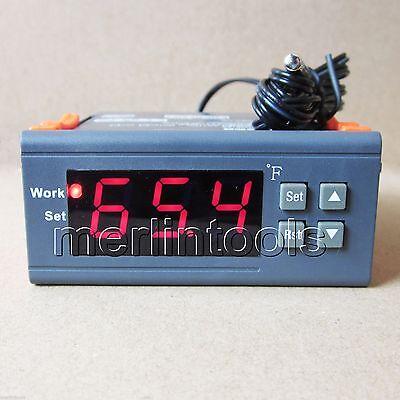 Ac 110120v Digital Temperature Controller Thermostat Fahrenheit