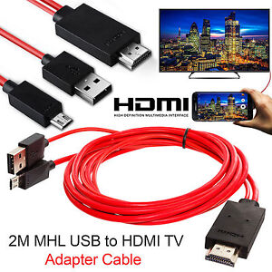 MHL Micro USB to HDMI Cable TV Out Lead 1080p for Samsung Galaxy S5 S4 S3 Note
