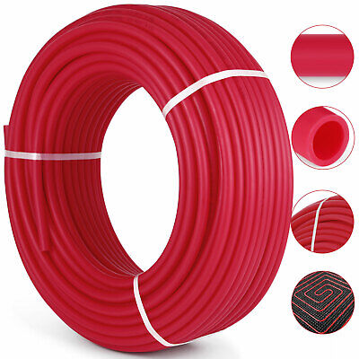 """1/2"""" x 500ft PEX Tubing PEX Pipe Oxygen Barrier O2 EVOH Red"""