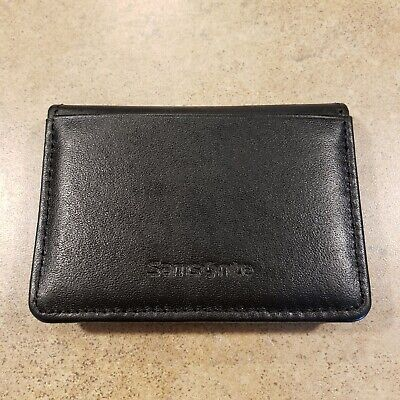 Samsonite Genuine Black Leather Bifold ID Business Card Holder 951405 Wallet