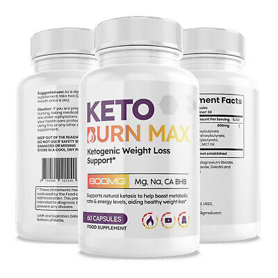 KETO BURN MAX STRONGEST KETO DIET PILLS WEIGHT LOSS KETOSIS BHB FAT BURNER