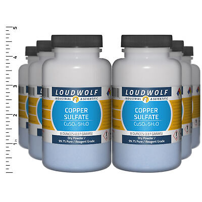 Copper Sulfate 3 Lb Total 6 Bottles Reagent Grade Dry Powder Usa Seller