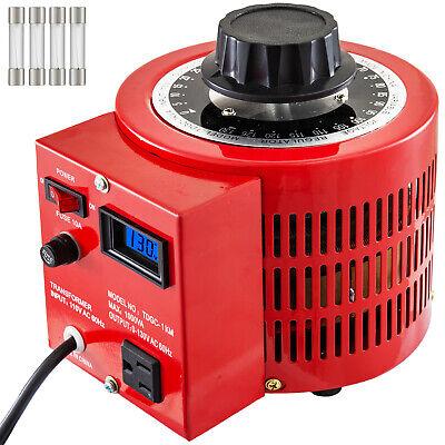Variac Variable Transformer 1kva Lcd Digital Display 110v Single Phase 0-130v