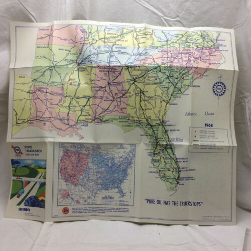 Vintage Pure Truckstop Station Map