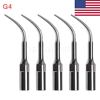 5pcs G4 Dental Ultrasonic Scaler Scaling Tips Fit Ems Handpiece Skysea Usa W.lr