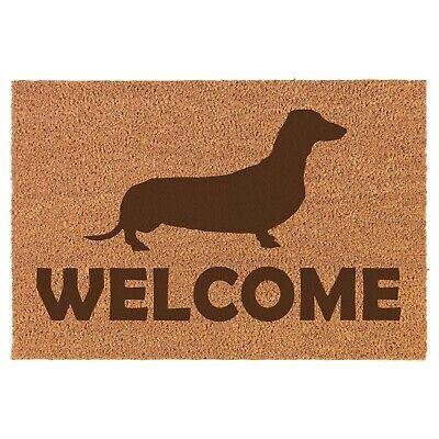 Coir Door Mat Entry Doormat Welcome Dachshund ()