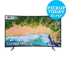 Samsung 55NU7300 55 Inch Curved 4K Ultra HD HDR Smart WiFi LED TV - Black.