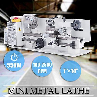 """7"""" x 14""""Mini Metal Lathe Machine 550W Variable Speed 0-2500 RPM Iron Body"""