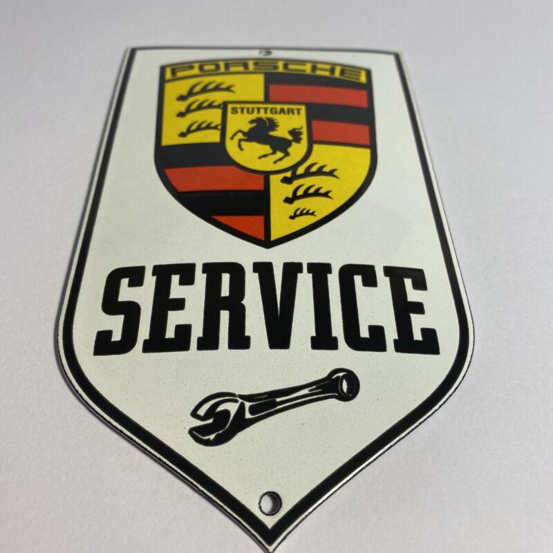 PORSCHE PORCELAIN GAS AUTO STUTTGART SERVICE STATION DEALERSHIP SIGN
