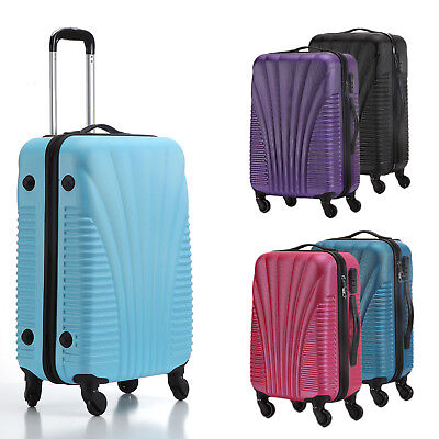 Hard Shell Cabin Suitcase Trolley Case 4 Wheel Luggage Spinner Ultra  Lightweight 08e17be23