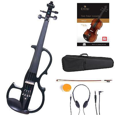 Cecilio Size 4/4 Electric Violin Ebony Fitted ~Black Style2