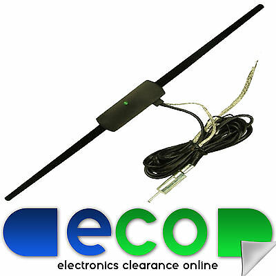 Car Stereo Radio Internal Glass Windscreen Mount Amplified Aerial Antenna RMA819