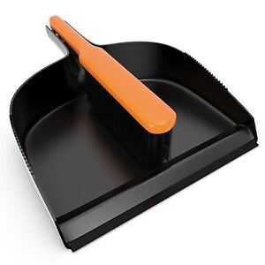 Large Trade Big Strong Dustpan and Brush Set Ideal for Builders Garden etc