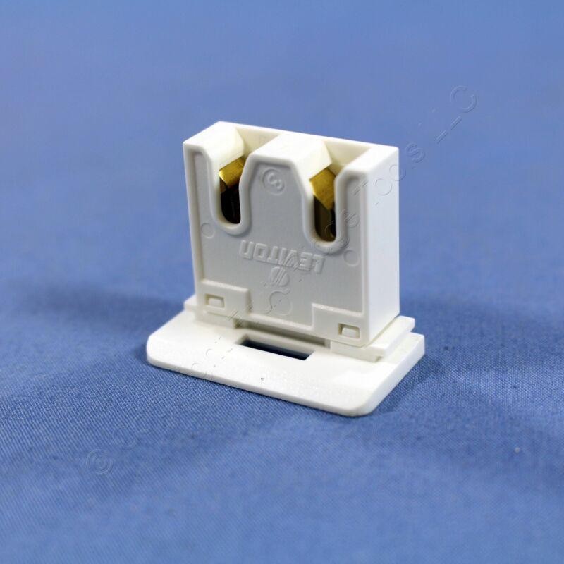 Leviton White Fluorescent Slide-On Straight-In Medium Bi-Pin T8 Lampholder 13280