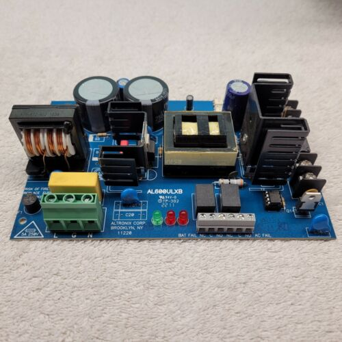Altronix AL600ULXB 12/24VDC 6A Power Supply Charger Circuit Board *Tested*