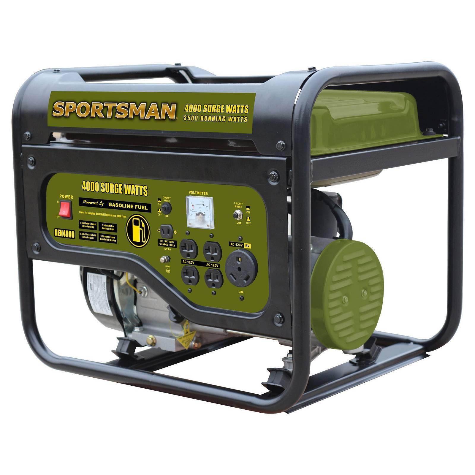 Sportsman Gasoline 4000w Outdoor Portable Gas Power Generator