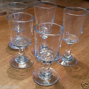 5 anciens verres xix me en verre souffl bull cave liqueur napol on iii ebay. Black Bedroom Furniture Sets. Home Design Ideas