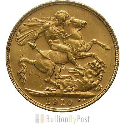 1910 Gold Sovereign - King Edward VII - London