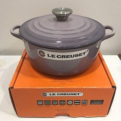 3 Quart Bell (NIB Le Creuset Dutch Oven  2 3/4 Quart Qt *Blue Bell Purple* )