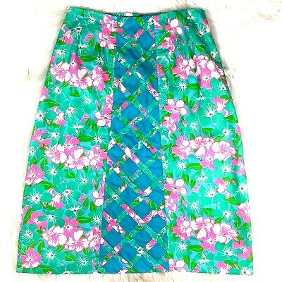 Vintage Lilly Pulitzer Womens 10 (current 4?) The Lilly A-line Floral Skirt Pink