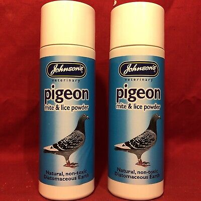 2 Pigeon Mite Lice Powder Natural Non-toxic Diatomaceous Earth Coop House Beddin