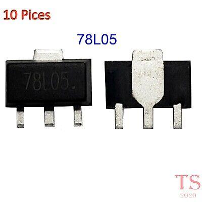 10pcs L78l05a Cutr 78l05 5v Sot-89 Regulators Transistor Smd Transistor New Usa