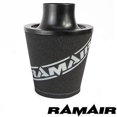 Ramair Black Medium Aluminium Induction Air Filter Universal 80Mm Od Neck