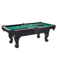 Lancaster 90 Inch Traditional Full Size Billiard Pool Table Set w/ Accessories