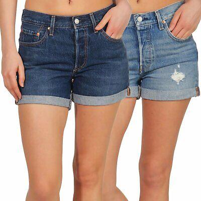 Levi`s Damen Jeans Shorts Damenhose Hotpants kurze Hose Bermuda Denim 501 29961 (Levis Kurze Hosen)