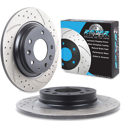 REAR DRILLED GROOVED 280mm BRAKE DISCS FOR MAZDA 6 1.8 2.0 DI 2.2 2.3 AWD 2002+
