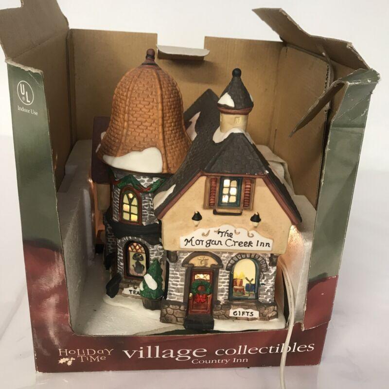 Village Collectibles Country INN , Holiday Time , Morgan creek inn