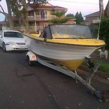 YALTA CRAFT 189 RUNABOUT, 70 HP TOHATSU 1 year rego boat/trailer Belmore Canterbury Area Preview