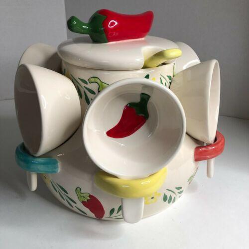 Storyteller Arts By Rachel Elizondo Large Chili Pepper Punchbowl Jar Rare Mint