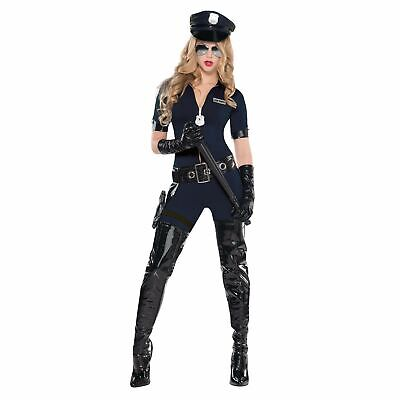 Stop Traffic Cop Costume (Sexy Stop Traffic Police Woman Cop Uniform Adult Womens Fancy Dress)