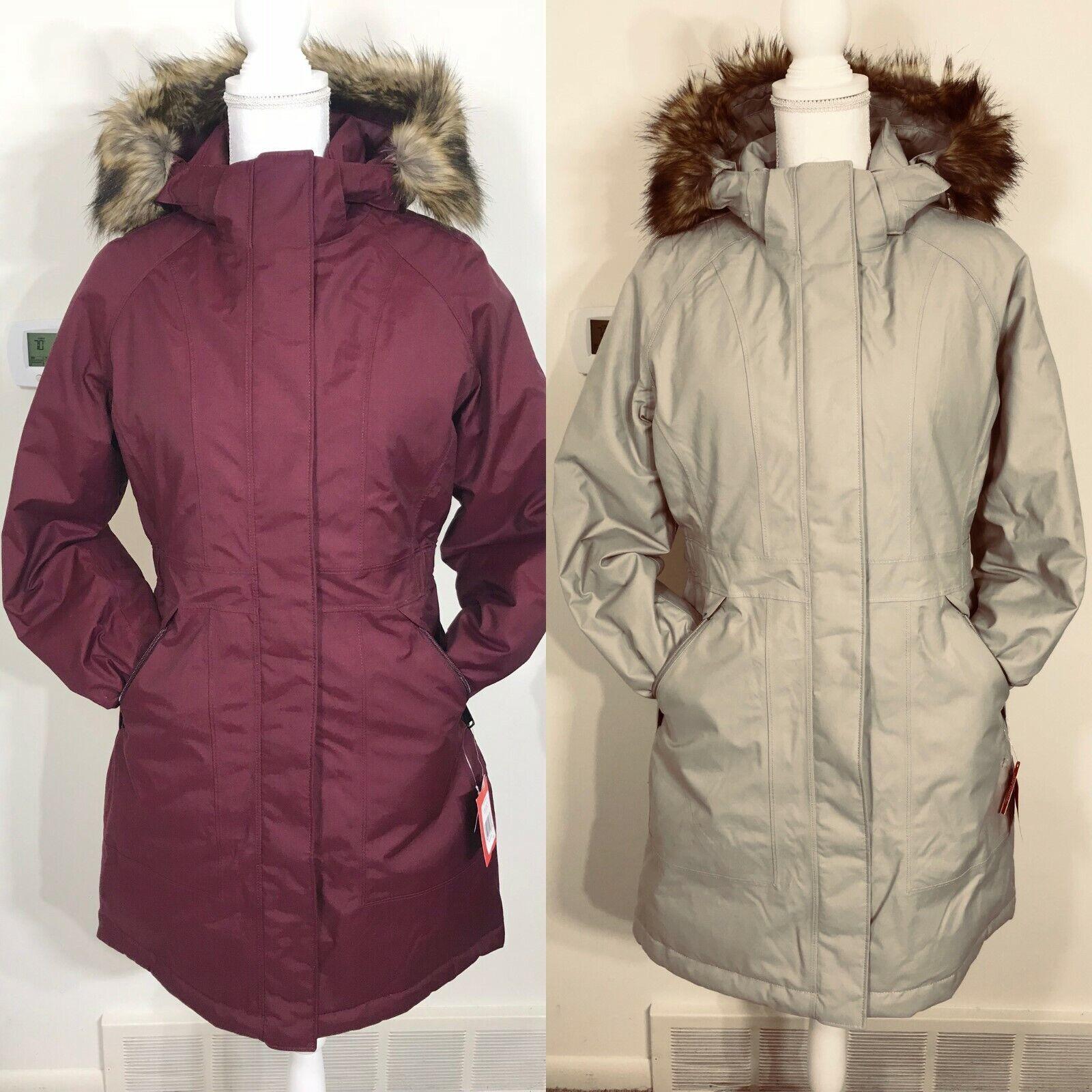 The North Face Women's Arctic Parka Down Coat Garnet Red Blu