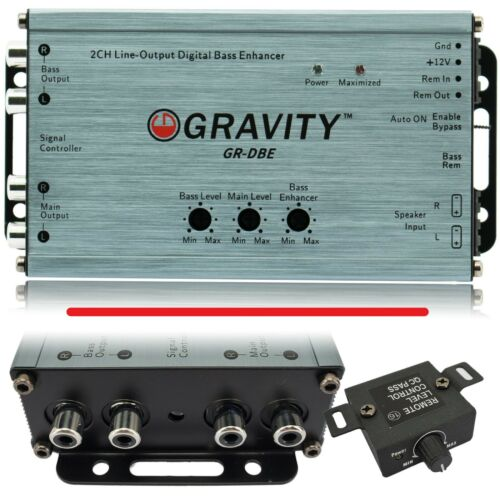 Gravity DBE 2 Channel Line-Output Converter with Digital Bass Enchancer w/ Knob