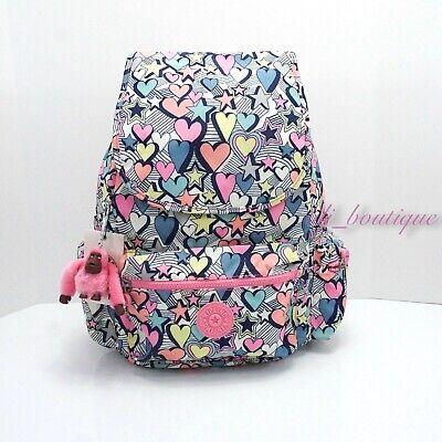 NWT Kipling BP4391 Ezra Travel Bag Backpack Polyamide Stardust Lights Multi $114
