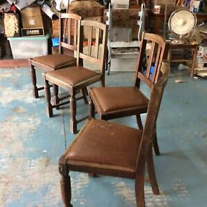 vintage 1940s dining chairs X four