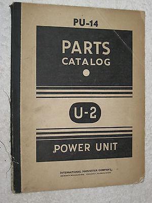Ih International Harvester U-2 Power Units Engine Parts Catalog Manual