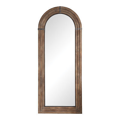 "Oversize Wood Arch Full Length Wall Mirror | 82"" Rustic Floo"