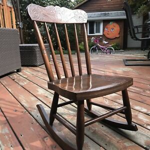 Child's Press Back Boston Rocking Chair