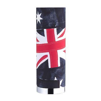 Tischleuchte Banner Fahne Flagge Dekor Tischlampe Chrom Stoffschirm Industriedep (Dekor-tisch Wohnzimmer)