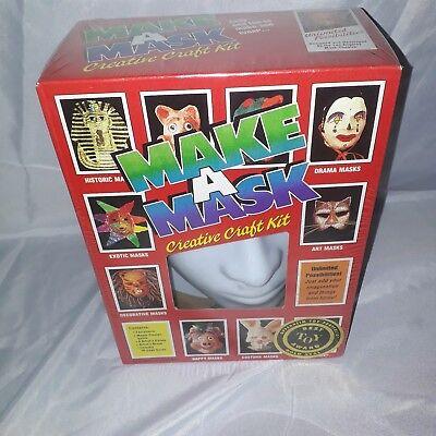 Vintage Unopened 1980s Make A Mask Creative Craft Kit