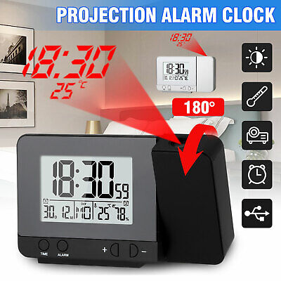 Dimmable Digital LED Projector Projection Snooze Alarm Clock