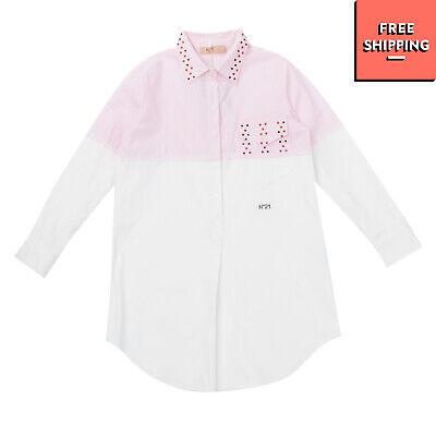 RRP €230 N 21 KIDS Pullover Shirt Dress Size 36 / 9Y / 128-134CM Embellished